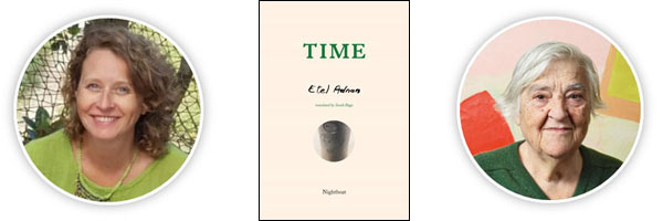 Time, by Sarah Riggs, translated from the French written by Etel Adnan